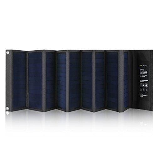 suaoki 60W ソーラーパネル充電器 ソーラーバッテリーチャージャー 高効率ソーラーパネル9枚搭載 スマホ ノートPC 自動車バッテリー充電可能