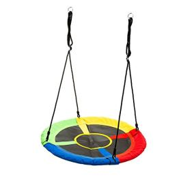 walsport Flying Saucer Tree Swing 330 Pound Capacity Safe and Durable Swing Seat Hanging Tree for Kids Adults Outdoor Garden Backyard