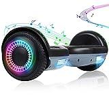 EPCTEK Hoverboard, 6.5 inch Selfing Balancing Scooter with Bluetooth Speaker for Kids Adult(Black grey)