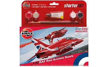 Airfix A55202C Medium Starter Set - RAF Red Arrows Hawk