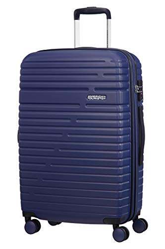 American Tourister Aero Racer Spinner 68 Expandable - 3.6 Kg Bagaglio a Mano 75.5 Liters, Blu...