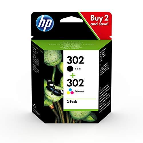 HP 302 Multipack X4D37AE Confezione da 2 Cartucce Originali, per Stampanti HP DeskJet serie 1100,...