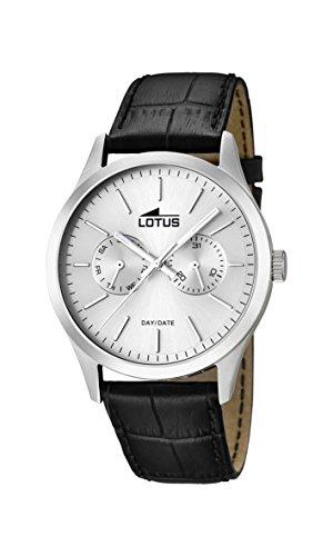 Lotus Herren Analog Quarz Uhr mit Leder Armband 15956/1