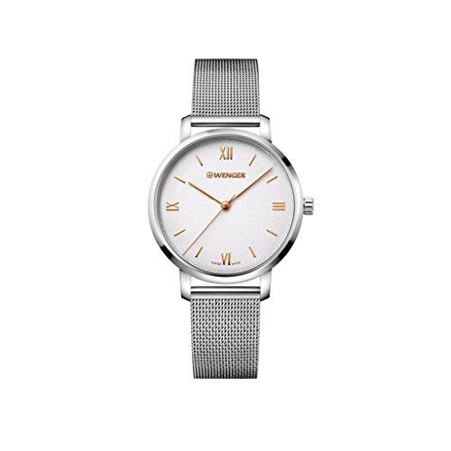 WENGER Damen Armbanduhr Analog Quarz Edelstahl 01.1731.104