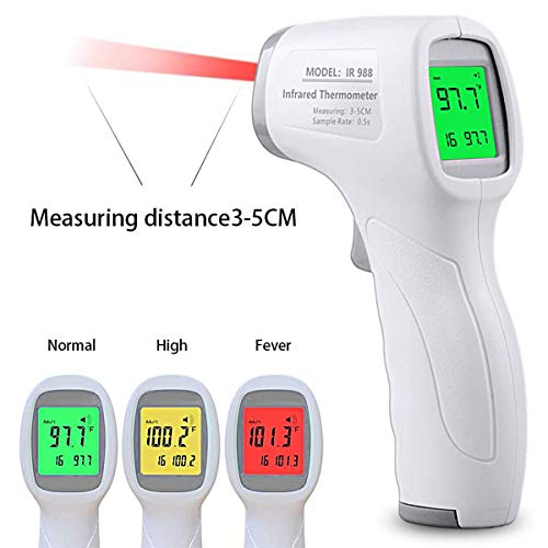 Infrared Medical Forehead Thermometer for Adult Ear Thermometer Non-Contact Baby Thermometer for Fever Digital Ear Thermometer Temporal Thermometer Adult with LCD Display for Infants Kids