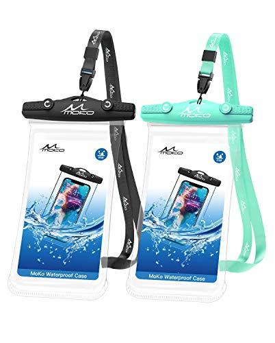 MoKo Waterproof Cellphone Pouch, [2 Pack] Underwater Phone Case...
