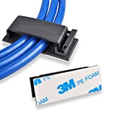 Cable Clips, Ethernet Cable Organizer, Conwork Adhesive Wire Management Clamps, Desktop Cord Holder...