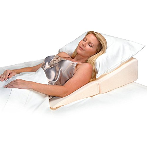 Contour Products Folding Bed Wedge Pillow, 10 Inches X 24 Inches X 24 Inches