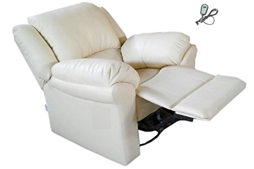 Innovate Recliner & Sofa Wooden Motorized Recliner Chair - P-Type, Standard Size (Cream, IN0006_WH)