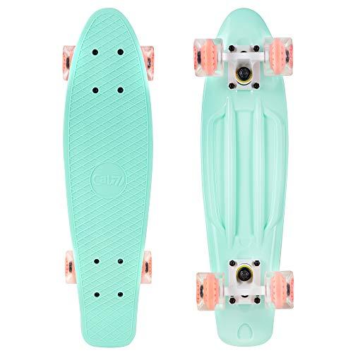 Cal 7 22.5' Complete Mini Cruiser Plastic Skateboard (Mint)