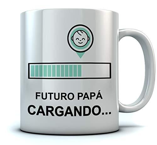 Taza - Regalos Originales Para Padres Primerizos, Taza Padre Primerizo - Futuro Papá Cargando 350ml Blanco