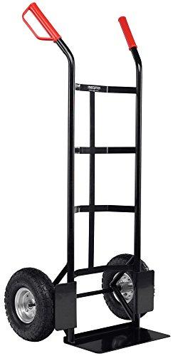 Stagecaptain Carryboy Sackkarre - Transportkarre für Umzug oder Getränkekisten - Stabiler Metallrahmen und Luftreifen mit 27cm Durchmesser - Handkarre mit Sicherheits Haltegriffen - 200kg Belastbar