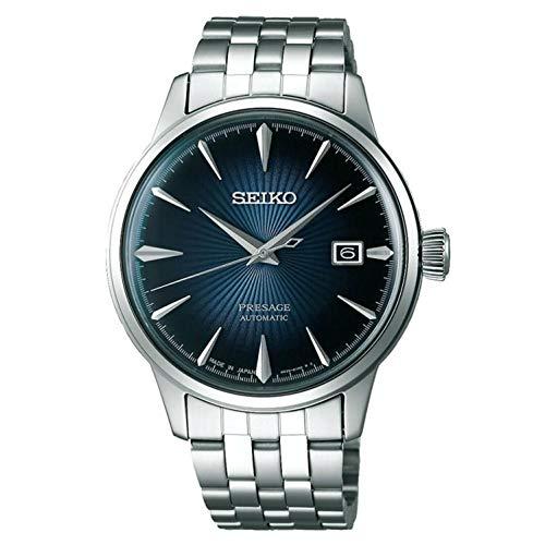 Seiko Herren Analog Automatik Uhr mit Edelstahl Armband SRPB41J1