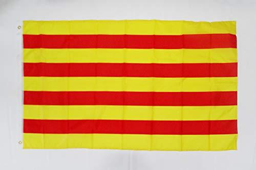 AZ FLAG Bandera de CATALUÑA 150x90cm - Bandera CATALANA - Catalunya 90 x 150 cm poliéster Ligero
