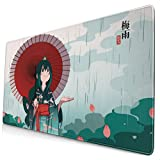 Anime My Hero Academia Froppy Tsuyu Asui 15.8x29.5 in Large Gaming Mouse Pad Desk Mat Long Non-Slip Rubber Stitched Edges