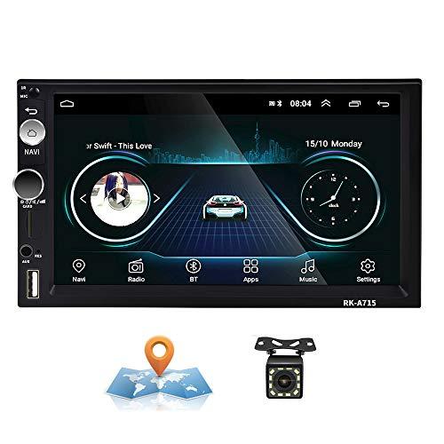 Autoradio Android 2 Din GPS CAMECHO Écran Tactile Capacitif 7 Pouces Bluetooth WiFi USB SD Lecteur de Voiture Stéréo Miroir Lien + Caméra Arrière