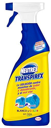 Neutrex transpirex sin Lejía eficaz contra manchas de sudor y desosodante y el mal olor - 0,6 litros