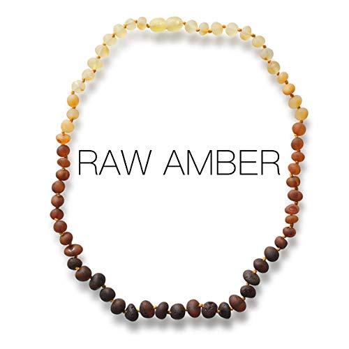 Meraki Baltic Amber Necklace - Raw Unpolished Baroque Baltic...