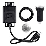Garbage Disposal Air Switch Kit Sink Top Waste Disposal Stainless Steel Brushed On/Off Air Button with Alloy Control Module, Long 2.5 Inch