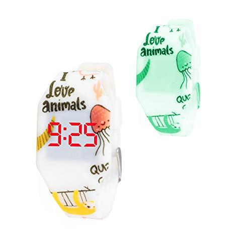 Orologio digitale a LED KIDDUS per bambini, ragazze. Cinturino comodo in morbido silicone. Batteria giapponese lunga durata. Facilit di lettura e apprendimento dellora.