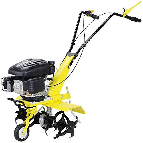 Craftfull Benzin Gartenfräse 139cc 4-Takt Motor - Easy-Pullstart - Selbstantrieb - Arbeitsbreite einstellbar - 6 Messer