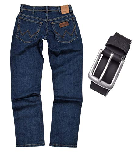 Wrangler TEXAS STRETCH Herren Jeans Regular Fit inkl. Gürtel...