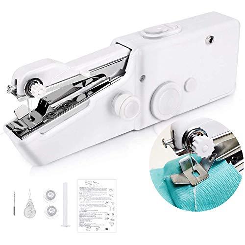 Mini macchina da cucire per principianti, portatile, con cucitrice, senza fili, set di macchina da...