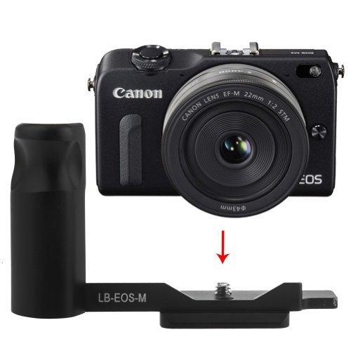 NEEWER ブラック 金属製 L型クイックリリースプレートブラケット ハンドグリップ Canon EOS Mカメラ 対応 Arca-Swiss標準 対応