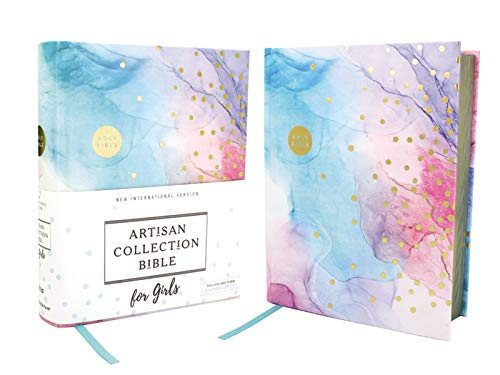 NIV, Artisan Collection Bible for Girls, Cloth over Board, Multi-color, Art Gilded Edges, Red Letter, Comfort Print