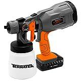 Terratek 18V Max Cordless Electric Spray Gun Fence Sprayer, 700ml Paint Container, HVLP Hand Held Spray Gun (18V Cordless Spray Gun)