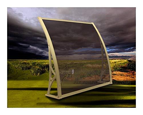 marquesina Puerta Exterior, Puerta del pabellón PC/DIY de policarbonato voladizo Toldo/Ventana de la Puerta Camino Pasarela cobertizo de jardín Porche Patio (Size : 60x80cm)