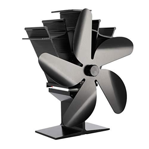 Kaminventilator, Ofen Ventilator ohne Strom mit 5...