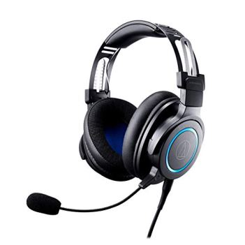 Audio-Technica ATH-G1 Premium Gaming Headset for PS4, Xbox One, Laptops, and PCs, with 3.5 mm Wired Connection, Detachable Mic Black