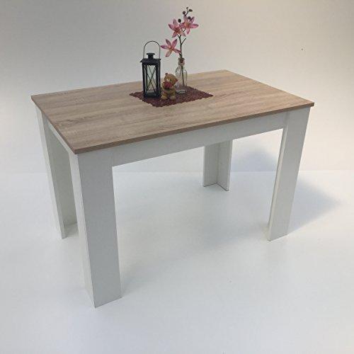 Möbel SD Esszimmertisch Sonoma /Weiß110x70cm