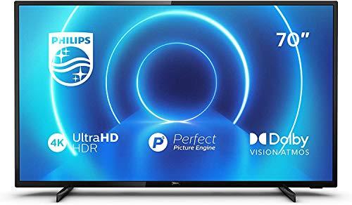 """Philips 70PUS7505/12 - Televisor de 70"""" (177 cm), Smart TV , Procesador P5 Perfect Picture Engine , HDR 10+. Dolby Vision , Dolby Atmos , Sintonizador Satélite , Color Plata"""