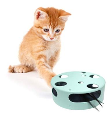 Interactive-Cat-Toy-Electric-Smart-Random-Spinning-Rotating-Feather-Cat-Toys-Automatic-Teaser-Exercise-Kitten-Play-Toy-for-PetsCatsKittens-Entertainment-Develops-Natural-Prey-Instincts-with-Fun