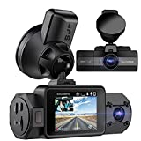 Vantrue N2S 4K Uber Dual Dash Cam with GPS, 1440P Front and Cabin Car Dashboard Camera, 2 Channel Motion Detection Parking Mode Dashcam with IR Night Vision, Speed Record, Capacitor, Support 256GB Max