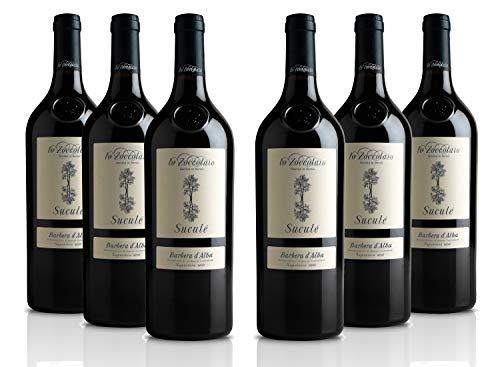 Lo Zoccolaio - Vino Rosso - Barbera d'Alba DOC Superiore Sucul - Pacco da 6 X 750 ml