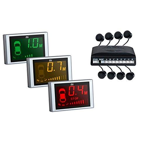 dnt 53512 RFS 4+4 Einparkhilfe mit 3-Farben-Display schwarz