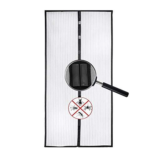 Magnet Fliegengitter Tür Insektenschutz, Magnetischer Türvorhang mit Glasfaser Material Insektenschutz für Balkontür, Klebemontage Ohne Bohren, Fliegengitter Magnetvorhang für Türen Schwarz 85 * 200