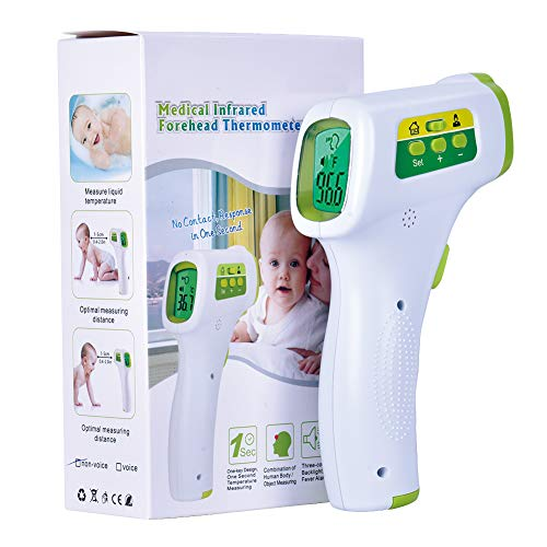Digital Infrared Forehead Thermometer Non-Contact Digital Thermometer with Fever Alert Function, 3 in 1 Digital Medical Infrared Thermometer for Baby