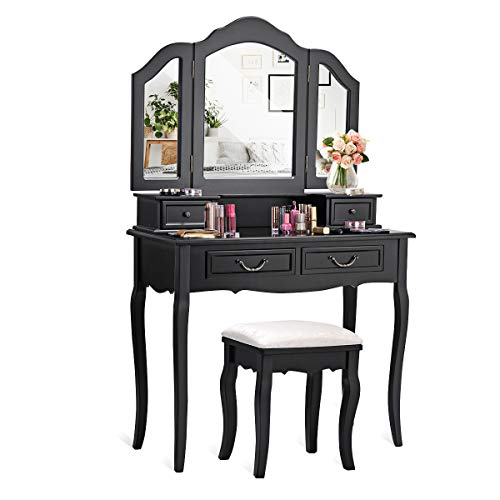 CHARMAID Vanity Set with Tri-Folding...