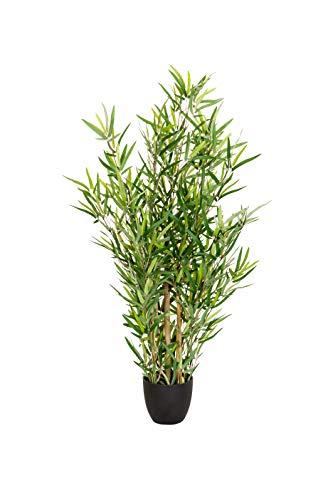 hjh OFFICE Kunstpflanze Mini Bambus Höhe 100 cm Grün Deko Kunstbambus Bambusbaum Zimmerpflanze künstlich, 871005