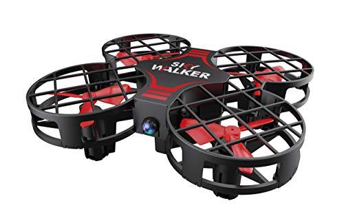 Motor & Co - Drone R/C Sky Walker - Mini Drone Giocattolo Quadricottero Telecomandato - Rosso