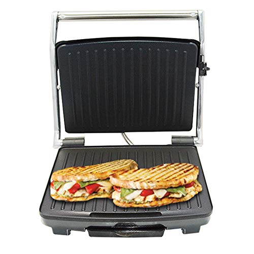 Kontaktgrill 3 In1mit Überback-Funktion Doppelte Grillfläche Wenn Aufgeklappt Als Tischgrill BBQ Auch Für Sandwich Steak Panini Regelbarer Thermostat Antihaftbeschichtet 2000W