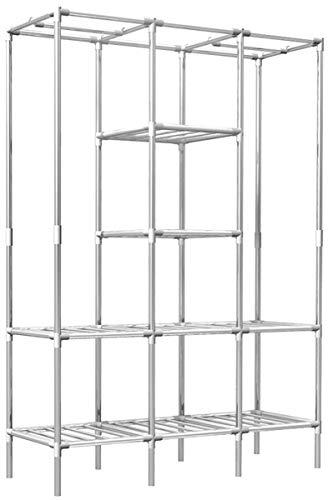 EYEPOWER Scaffalatura 178x128x44,5 componibile 2 Appendiabiti 8 Ripiani Metallo