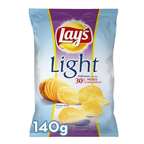 Lay'S Light Patatas Fritas con 30% Menos de Grasa, 140g