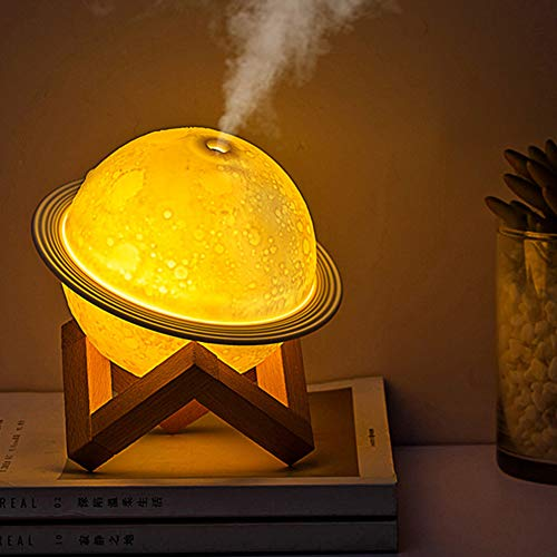 WIDEWINGS 2 in 1 Moon Lamp Cool Humidifier 3D LED Night Light Humidifiers For Home, humidifiers for...