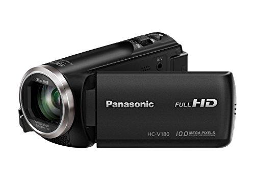 Panasonic HC-V180EG-K Videocamera Full HD (sensore da 1/5, 8 pollici, Full HD, zoom ottico 50x,...