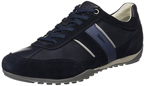 Geox U Wells C, Zapatillas Hombre, Azul (Dark Navy), 43 EU